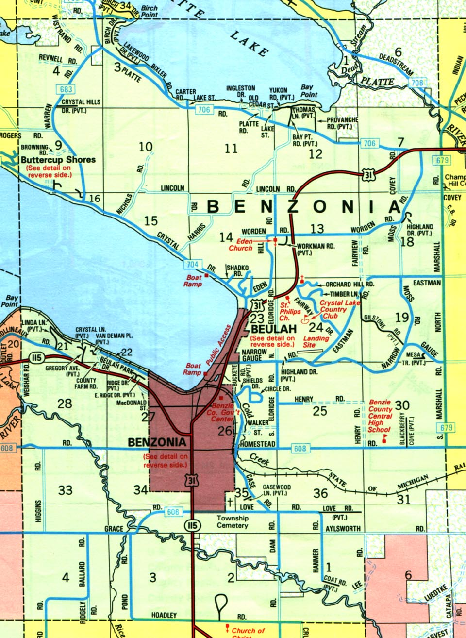 benzie county Crystal clear michigan benzie county is located in northwest lower michigan, bordering lake michigan benzie county boasts over 100 lakes, several square miles of state forests, and miles of pristine rivers.
