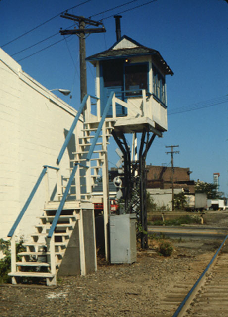 Grand Trunk Western Railroad Signal Tower That Once Stood